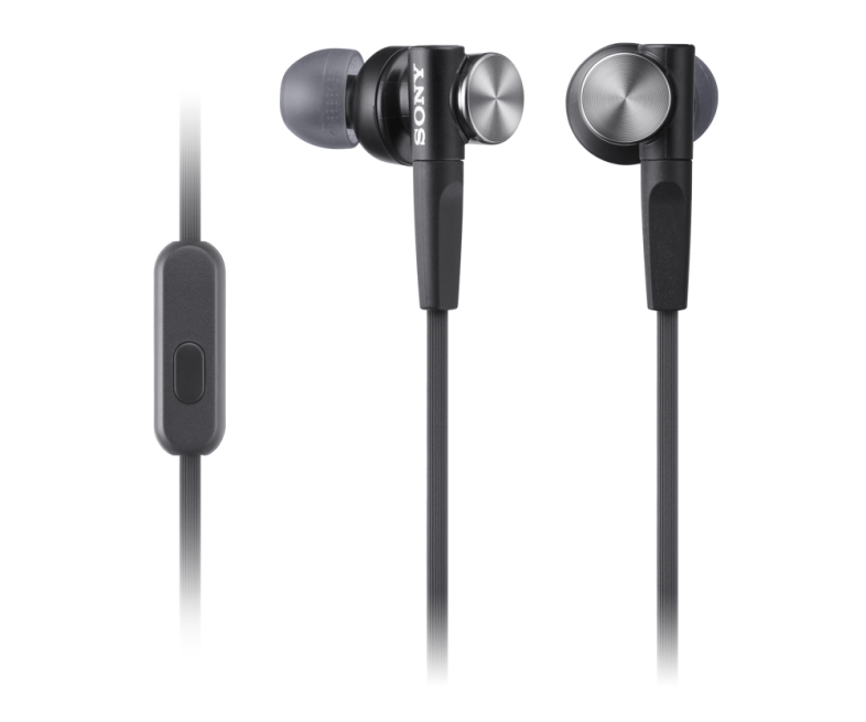 Earbud clip retractable. Extra bass headset mdrxb