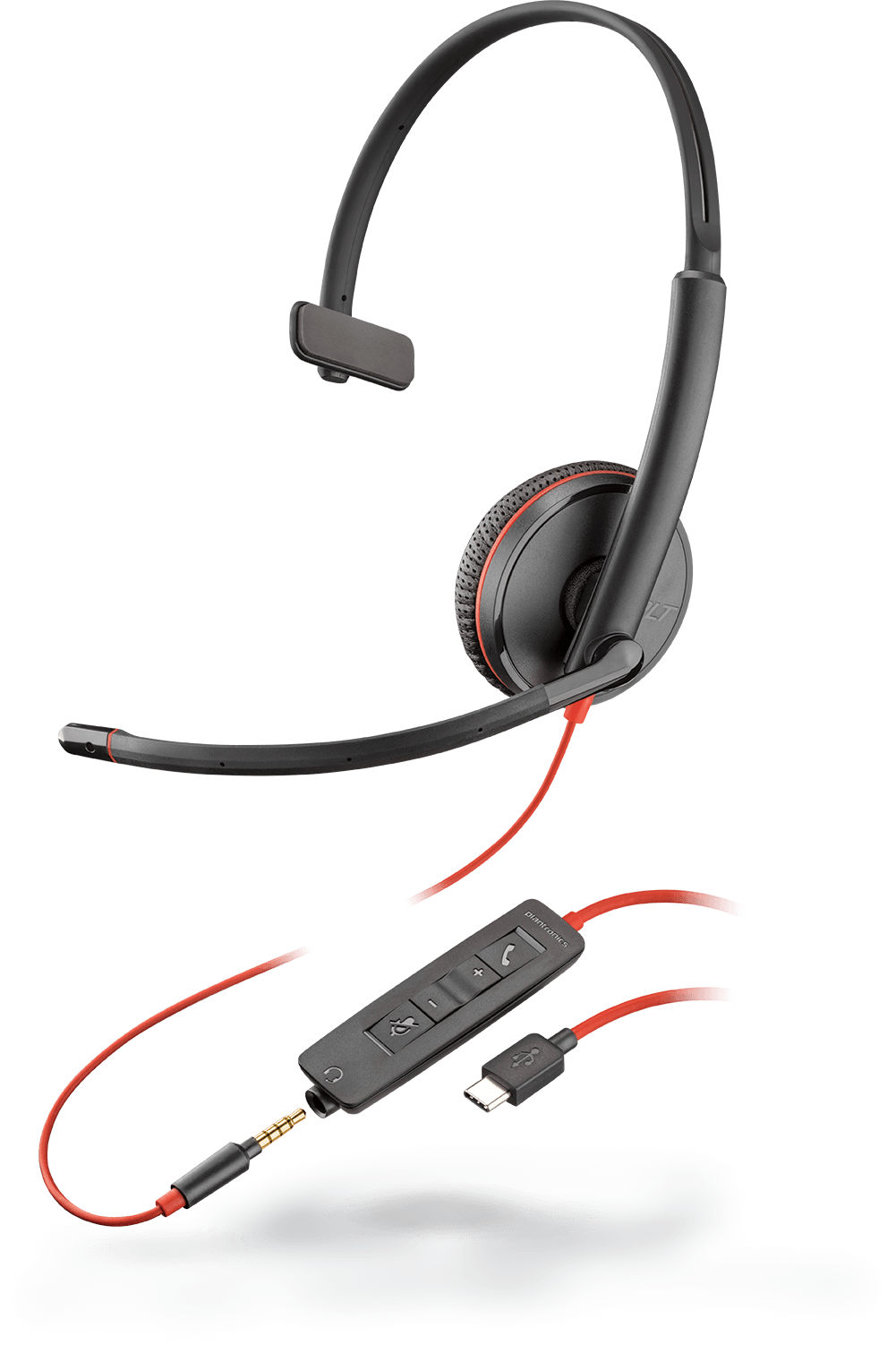 Earbud clip round. Plantronics products headsets headphones