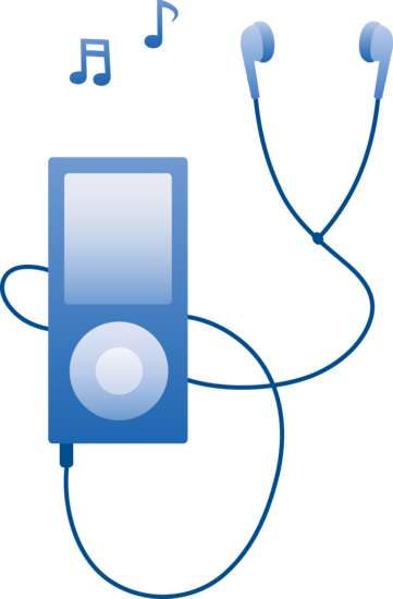 Earbuds clipart. Free clip art of