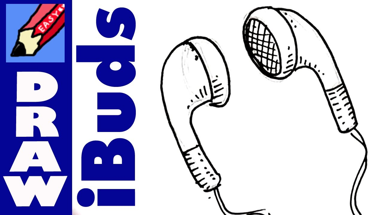 Earbuds clipart cartoon drawn. How to draw iphone