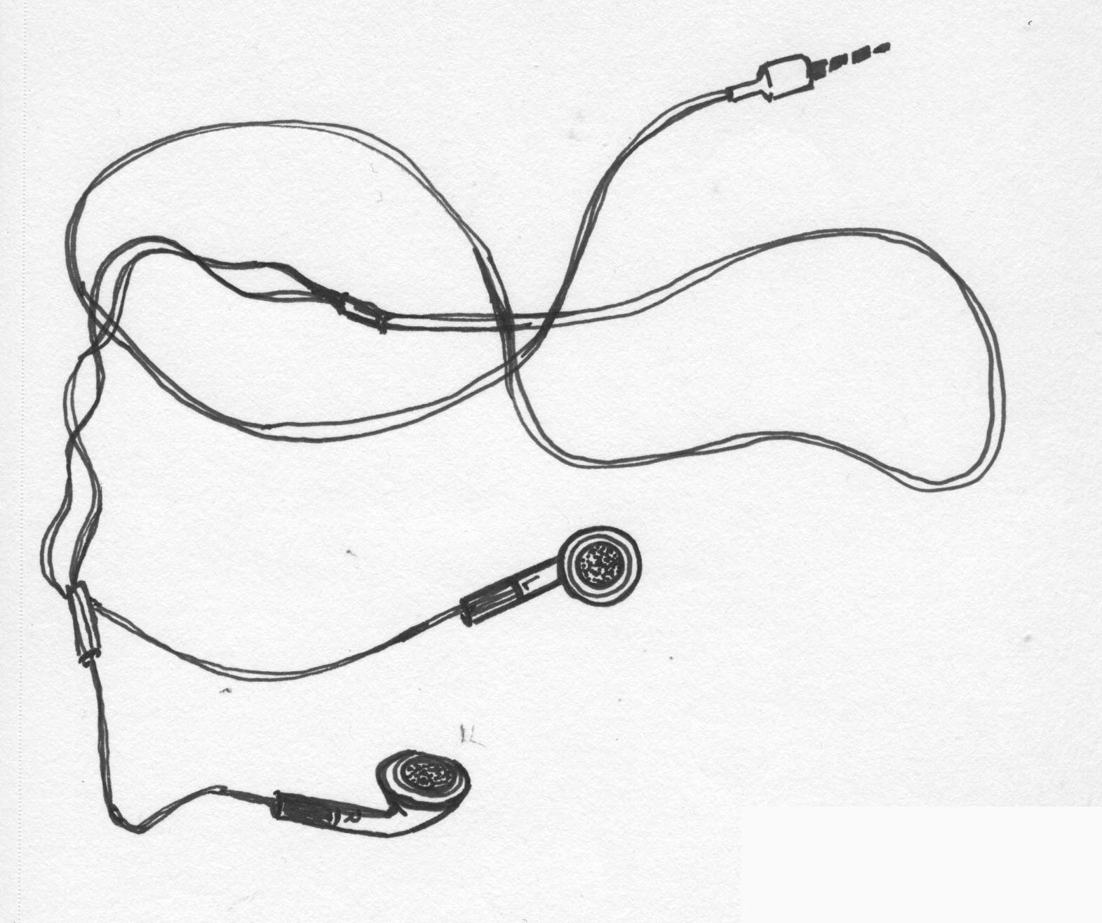 Earbuds clipart draw. Drawing pencil and in