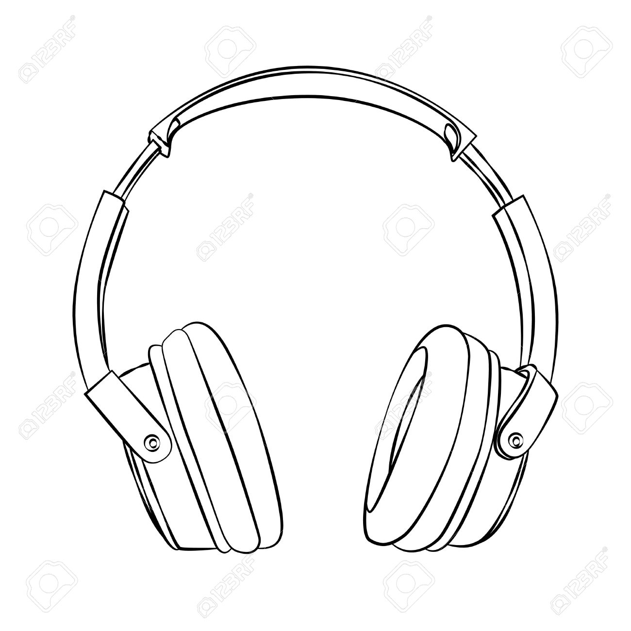 Earbuds clipart draw. Headphones drawing at getdrawings