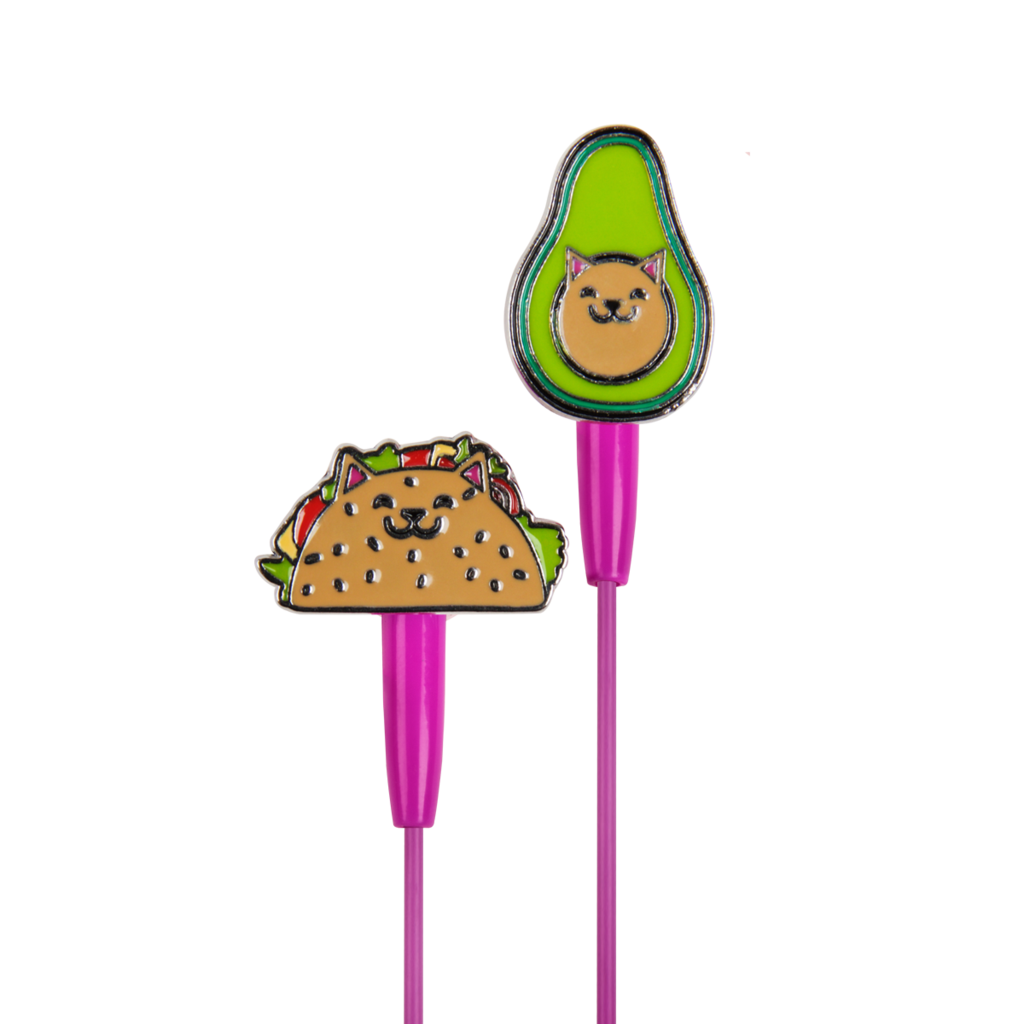 Earbuds clipart heart. Gato taco dci gift
