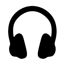 Earbuds vector music note clipart. Free svg headphones silhouette