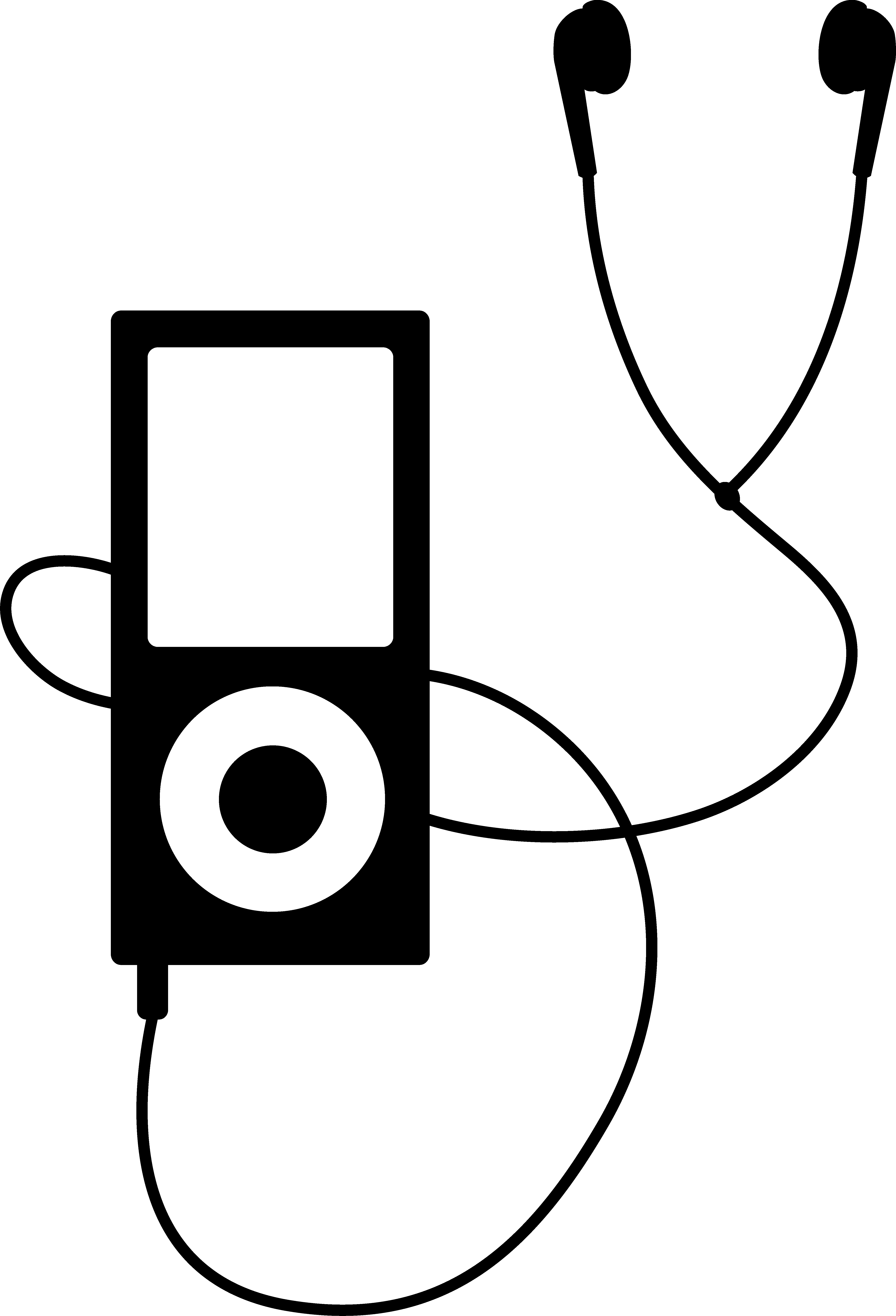 Earbuds vector draw. Drawing for free