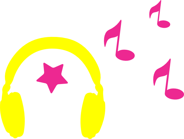 Earbuds vector music note clipart. Headphones with freeuse