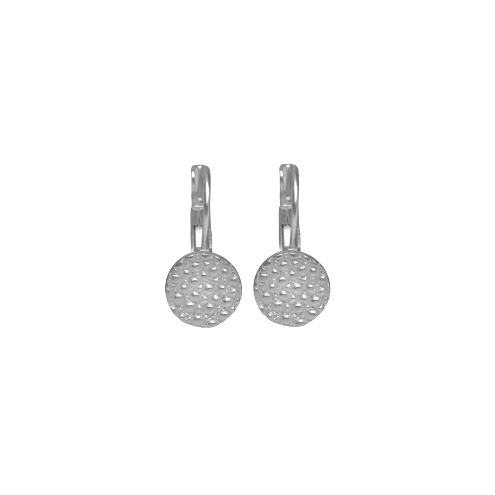 Earring clip. Trixie french silver plating