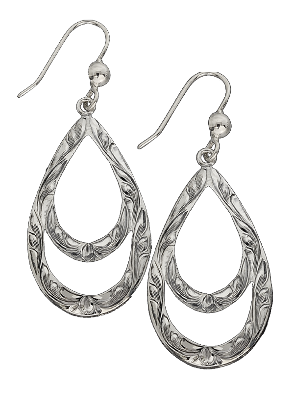 Sterling silver earrings vogt. Teardrops drawing clipart stock