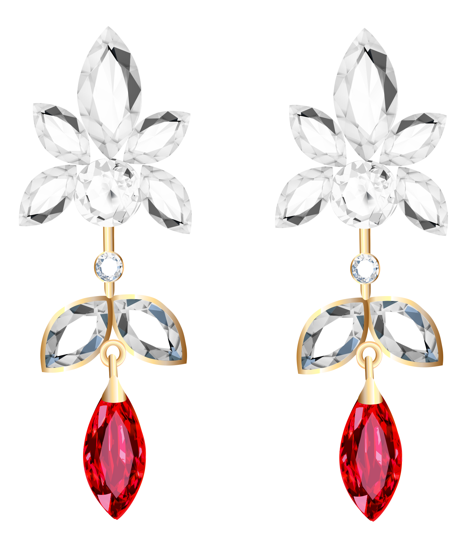 Earring transparent. Collection of free earing