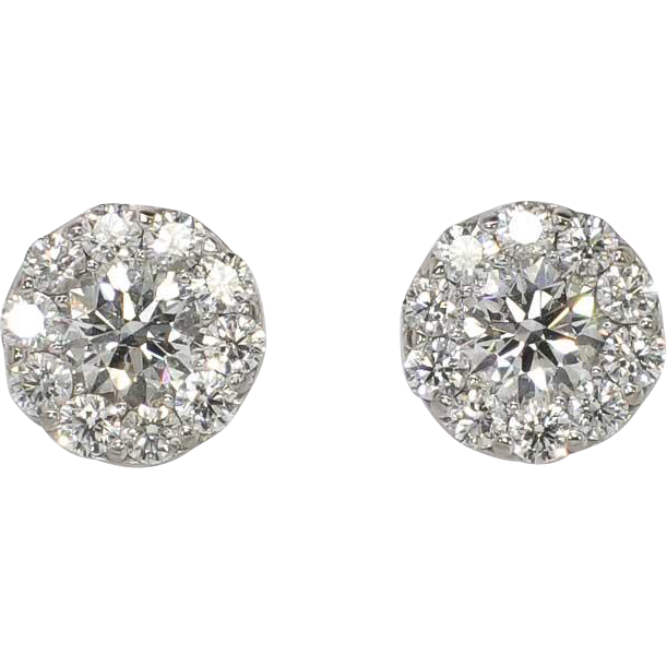 Earring transparent background. Estate ct t w