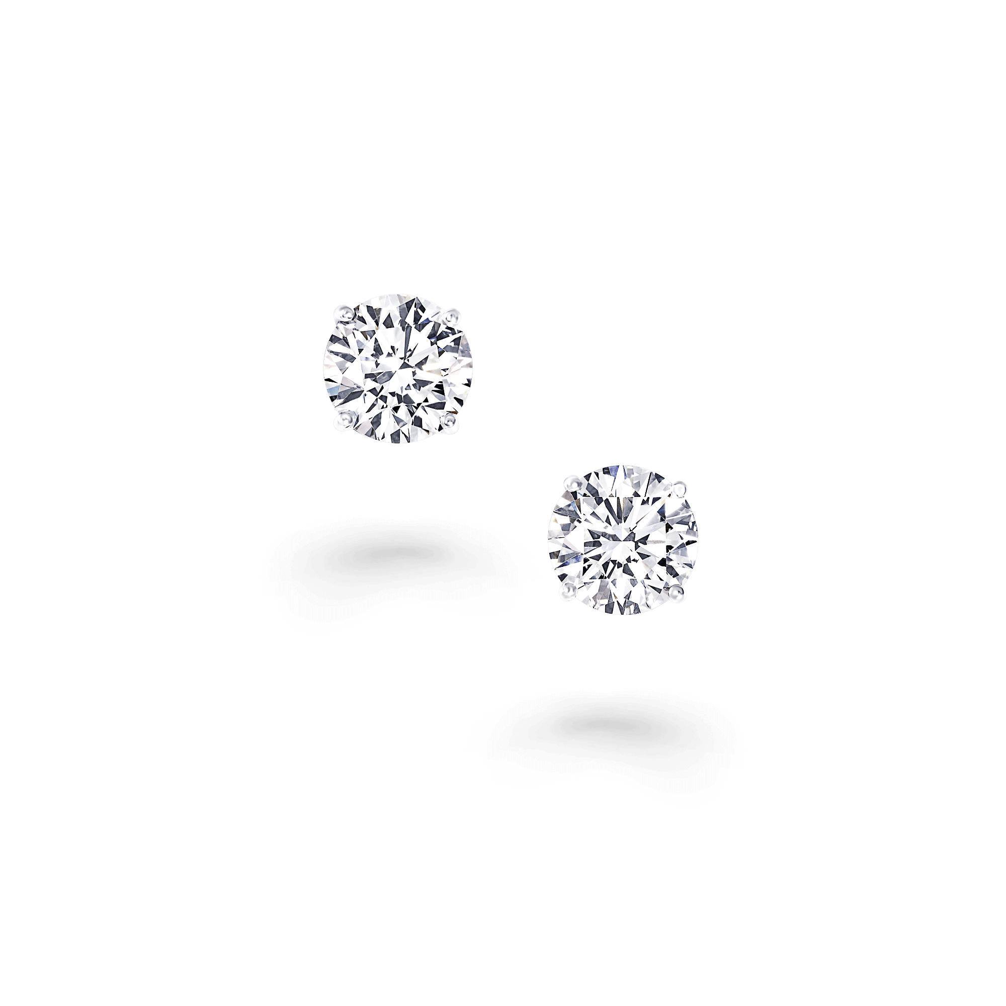 Earring transparent stud. Classic graff round earrings