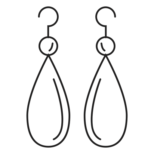 Drop dangle earrings icon. Earring vector transparent transparent stock
