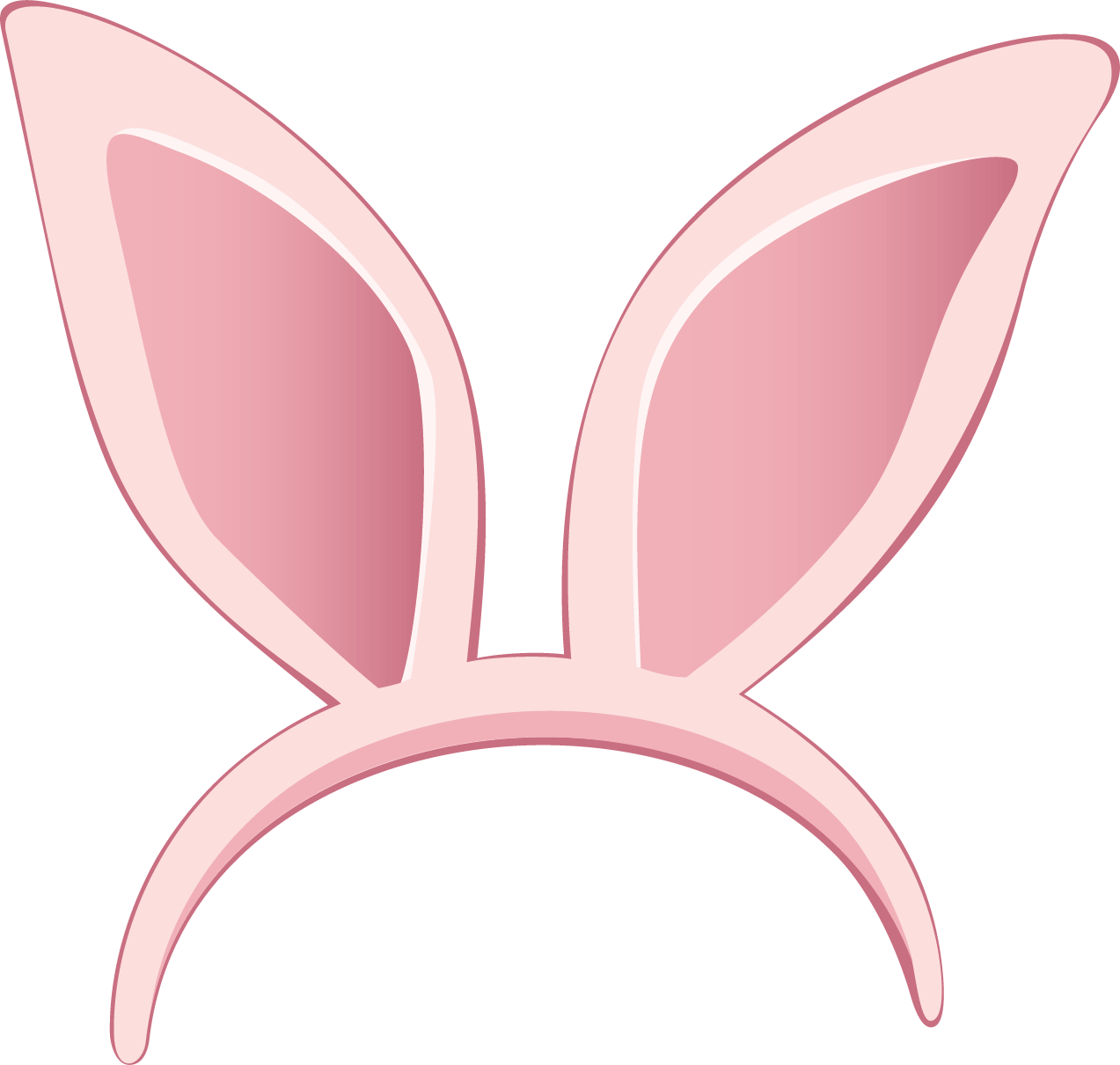 Rabbit ears png. Ear clipart transparent stickpng