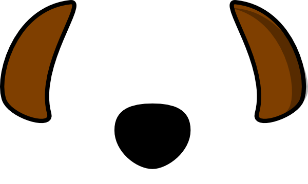 Dog ears png. Black brown clip art