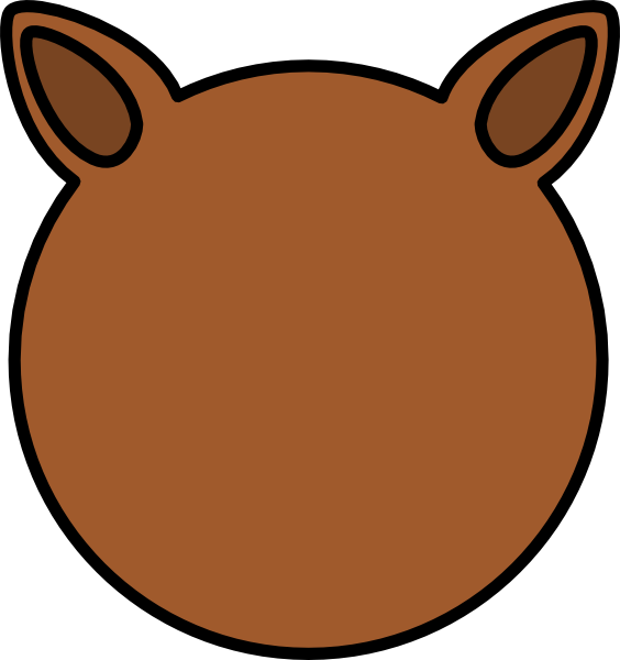 Ears clipart brown. Animal