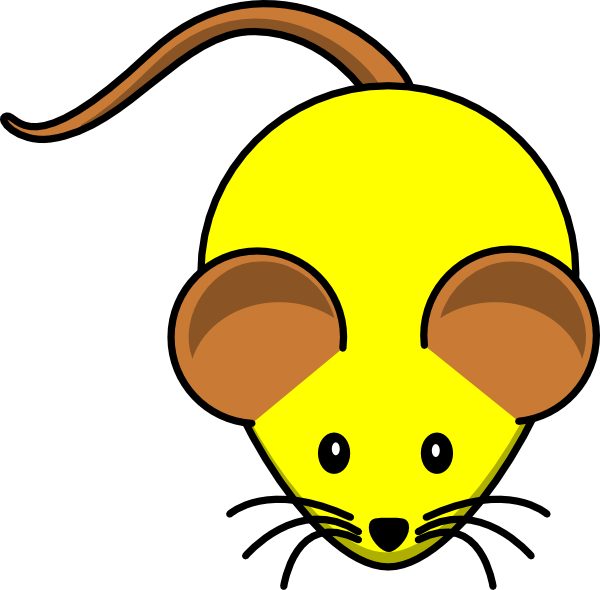 Ears clipart brown. Yellow mouse w clip