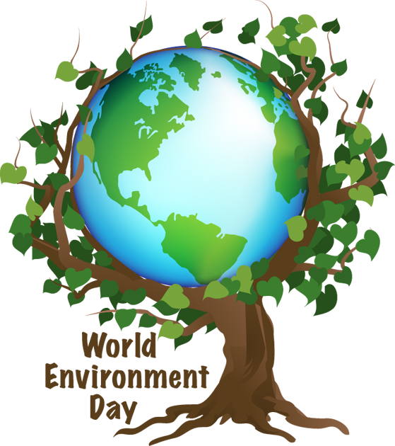 Earth clip environmentalist. World environment day is