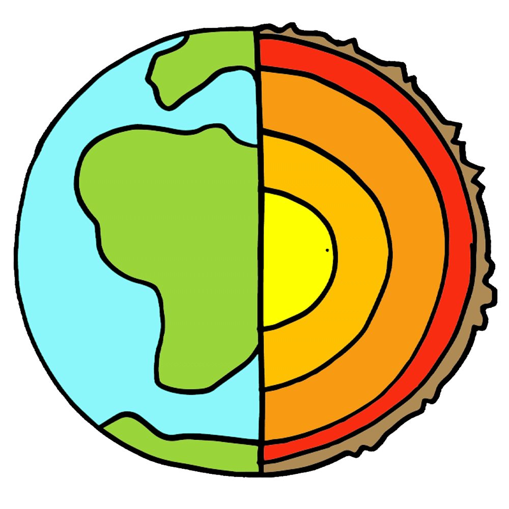 Earth clip layer. Layers of the clipart
