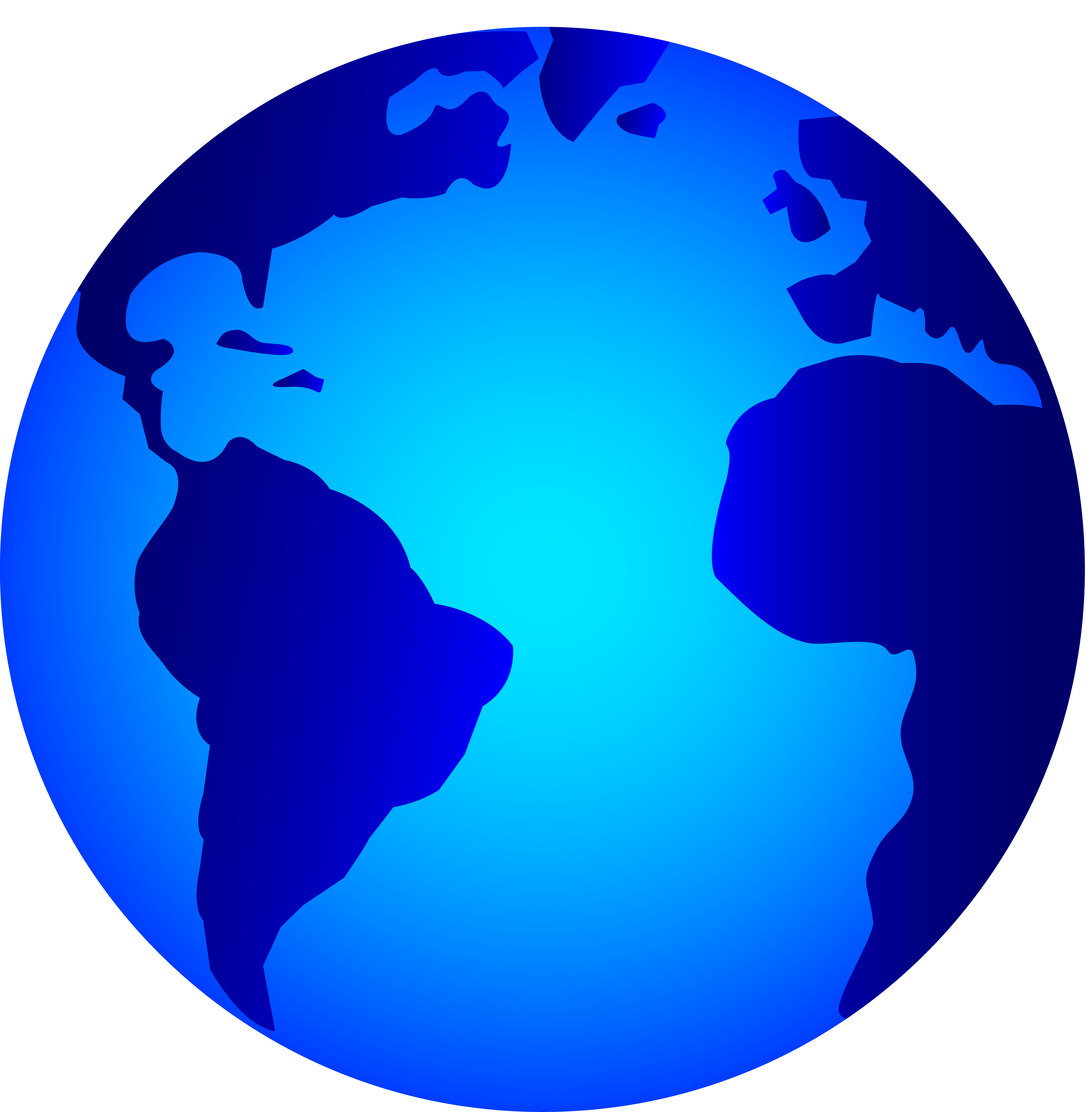 Earth clip logo. Real clipart