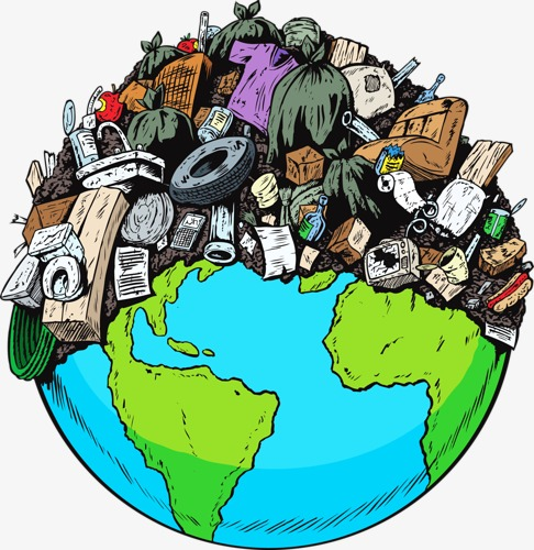 Earth clipart pollution. Rubbish load png image