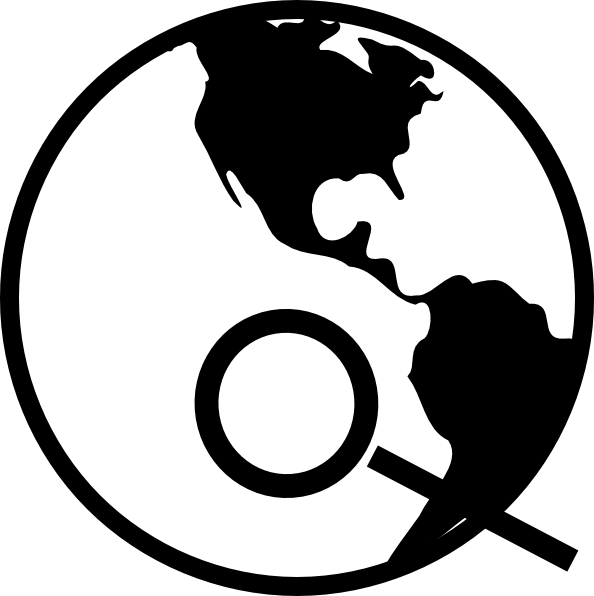 Earth clipart simple. Black and white with