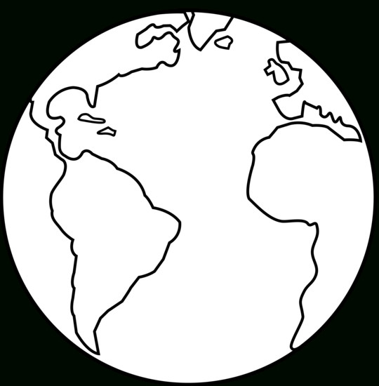 Earth clipart simple. Black and white iosmusic