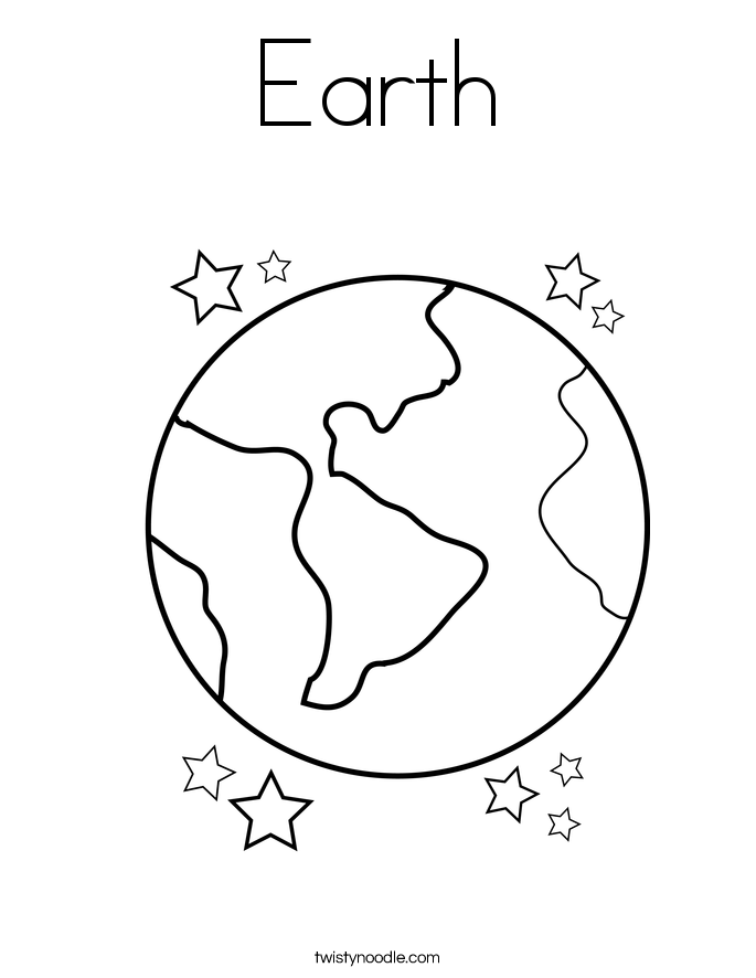 World clipart coloring. Pages of earth preschool