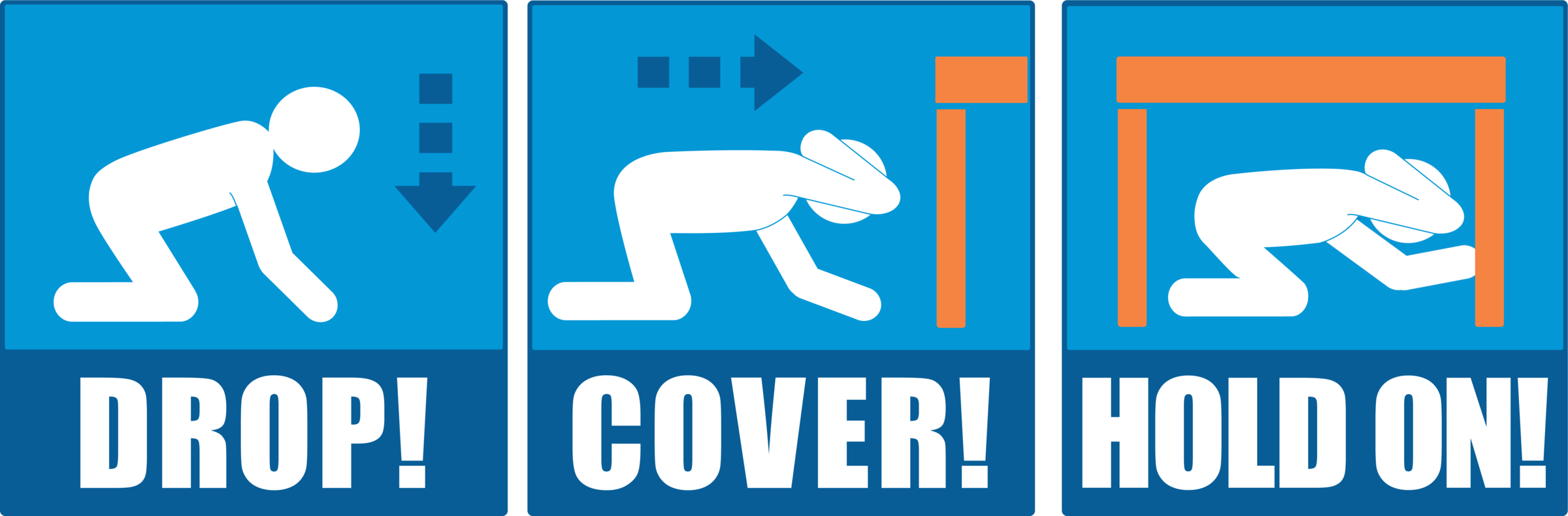 Earthquake clipart management. Drop cover and hold