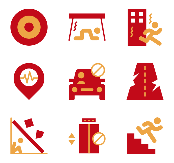 Earthquake vector clipart. Icons free