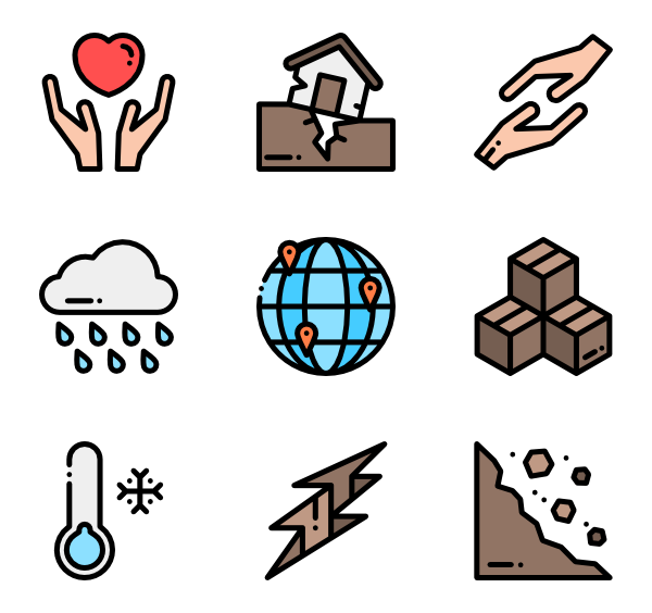 earthquake vector icon