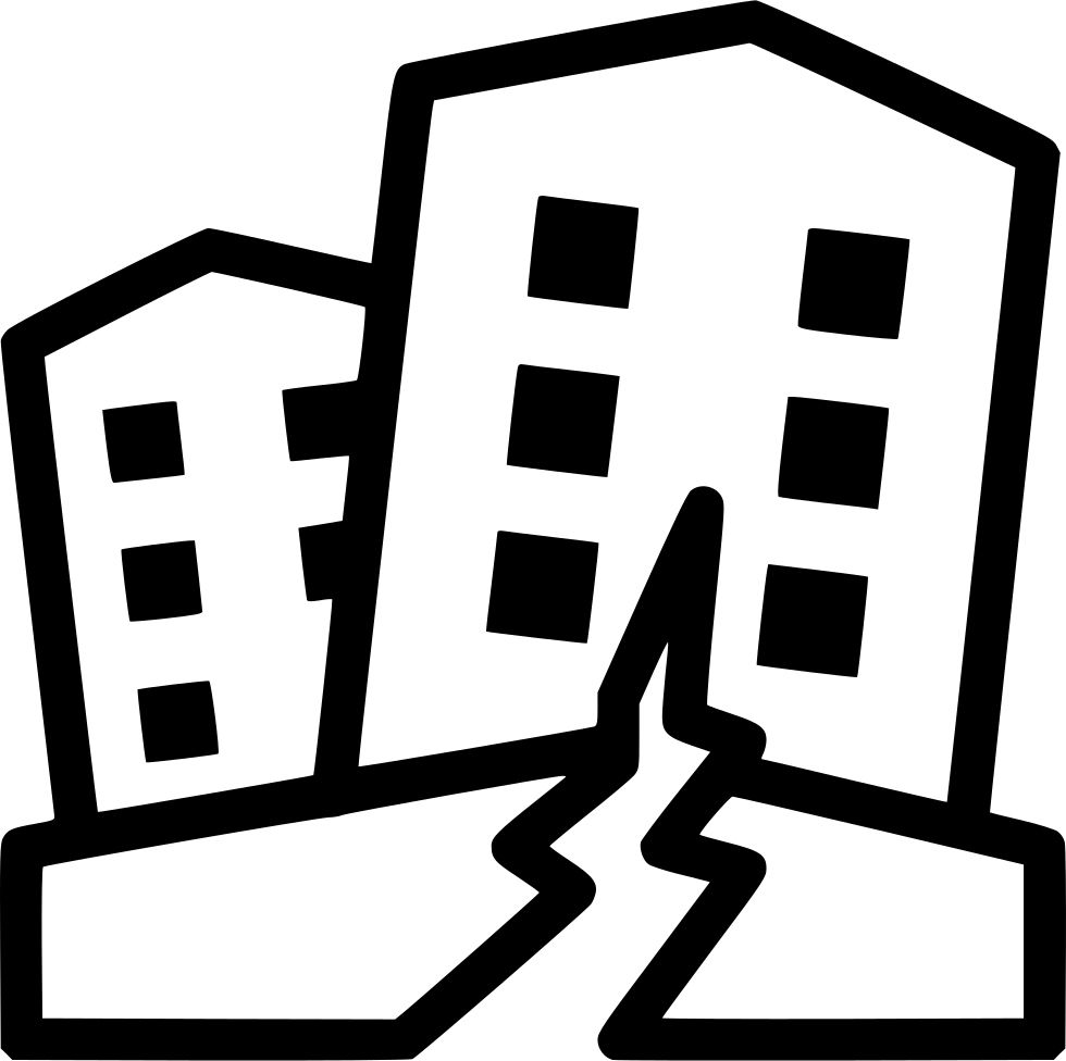 Earthquake vector svg. Black and white