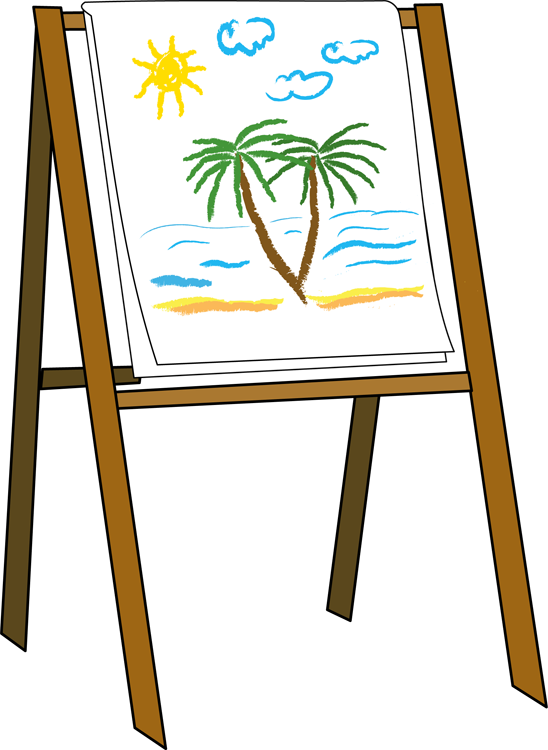Easel clipart graphic royalty free