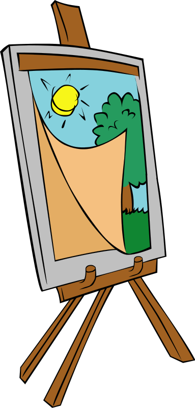 Drawing clip easel. Free cliparts download art