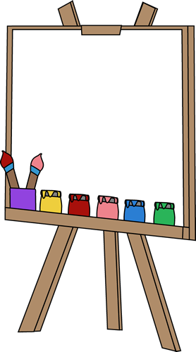Blank paint clip art. Easel clipart banner freeuse stock
