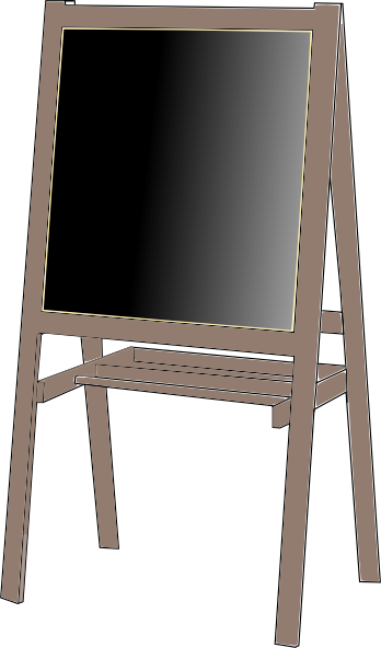 Clip art at clker. Easel clipart jpg transparent stock