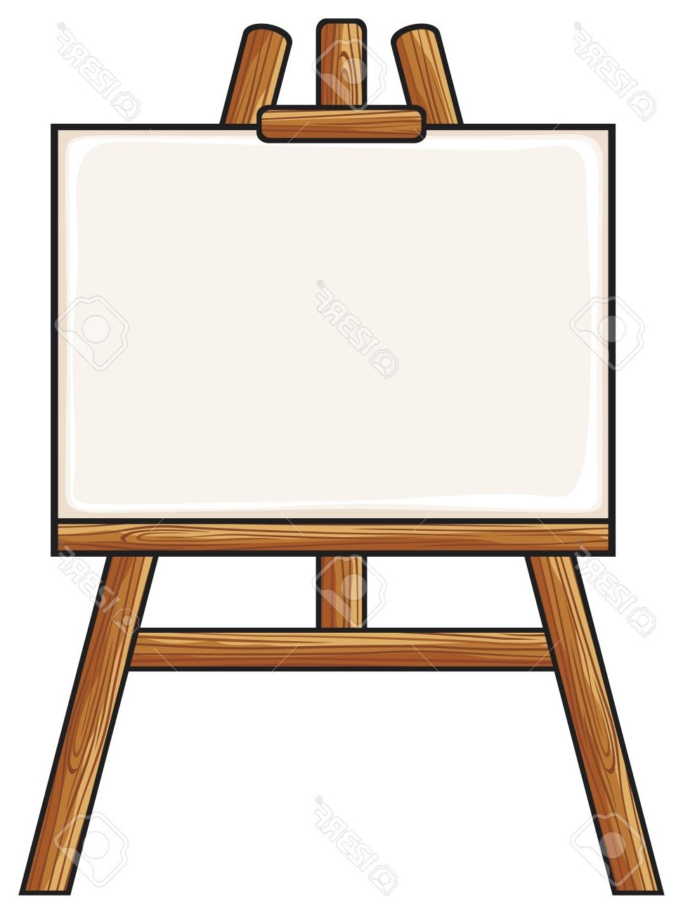 Easel clipart. New design digital collection