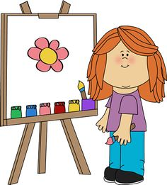 Easel clipart artwork. Free clip art my