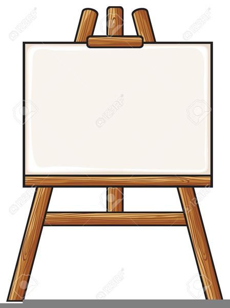 Easel clipart artwork. Artist free images at