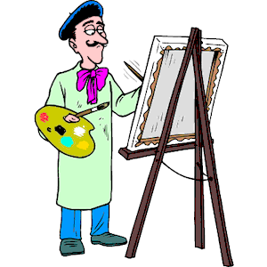 Easel clipart artwork. Artist at cliparts of