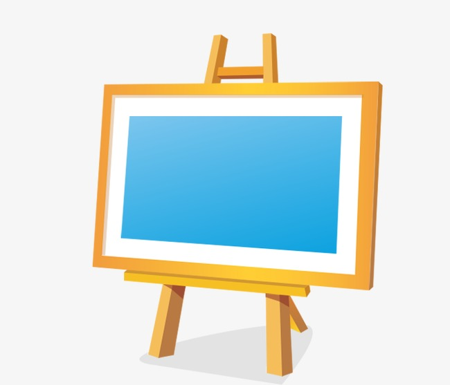 Easel clipart border. Small blackboard yellow png