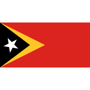 East Timor. Iron on embroidered flag