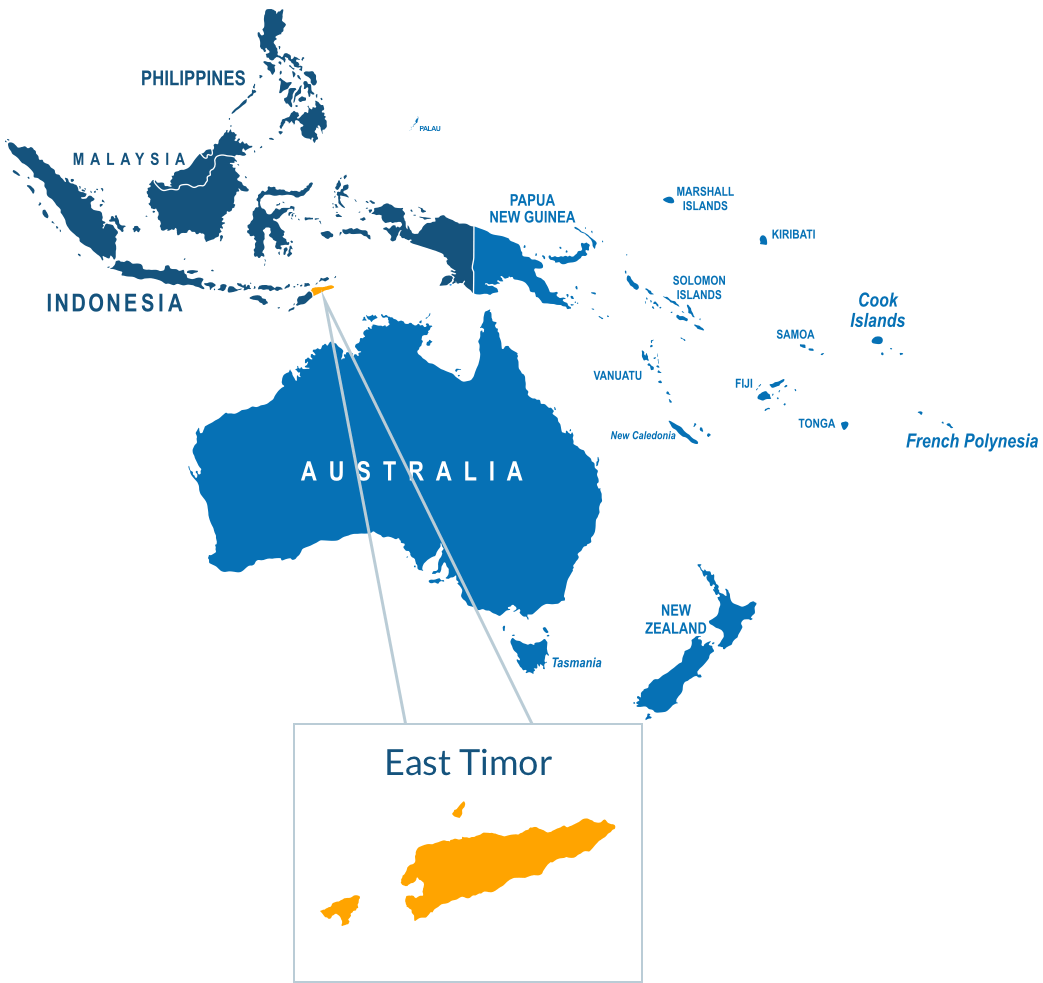 East Timor. Courier services parcel delivery