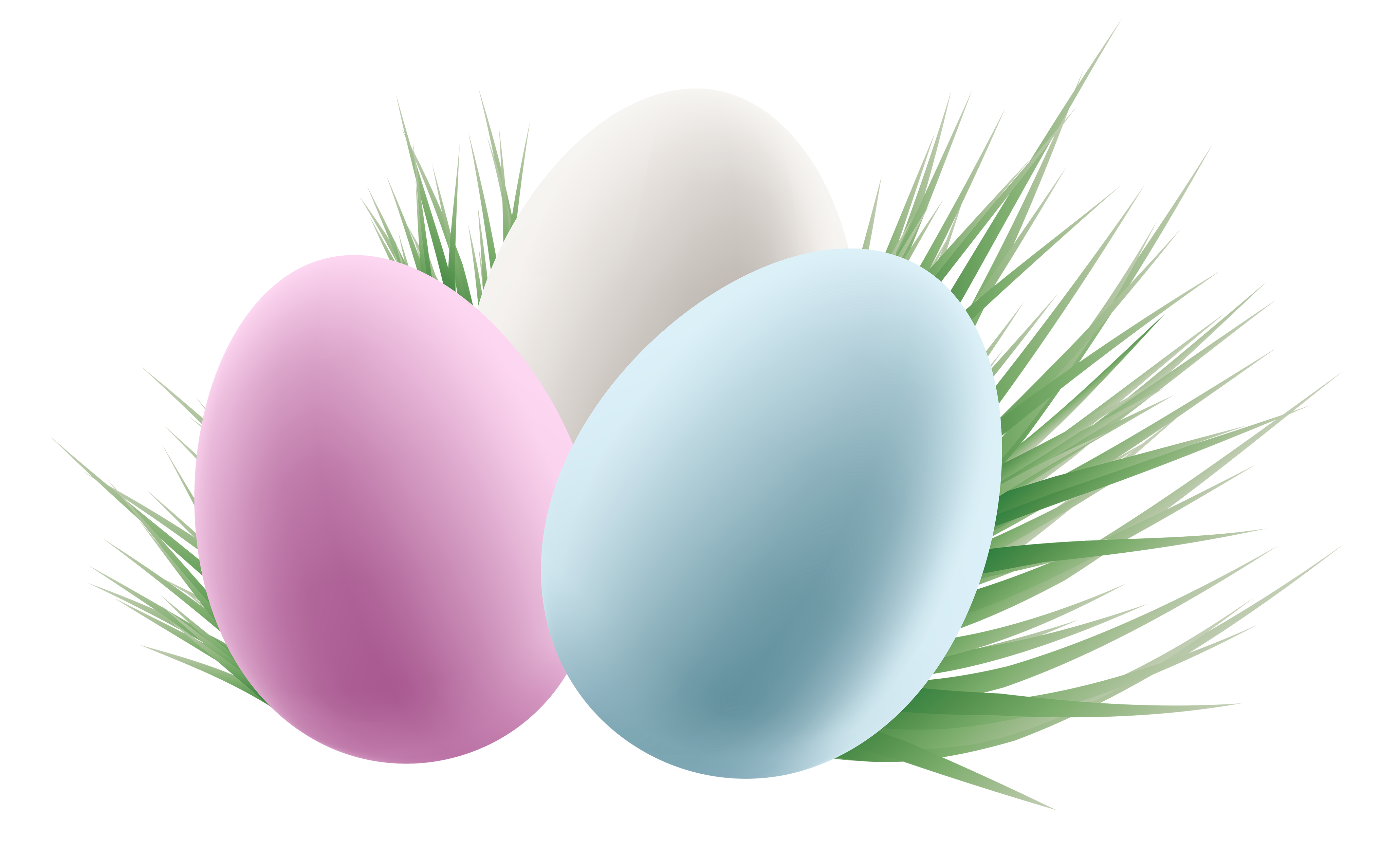 Easter background png. Transparent eggs and grass
