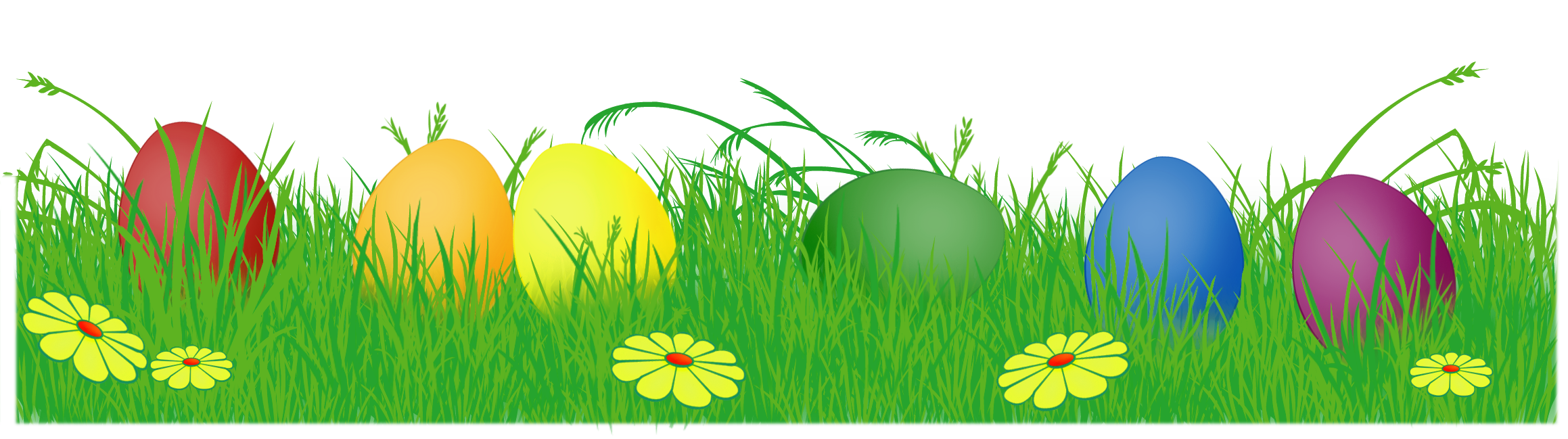 Easter border png. Eggs with grass clipart