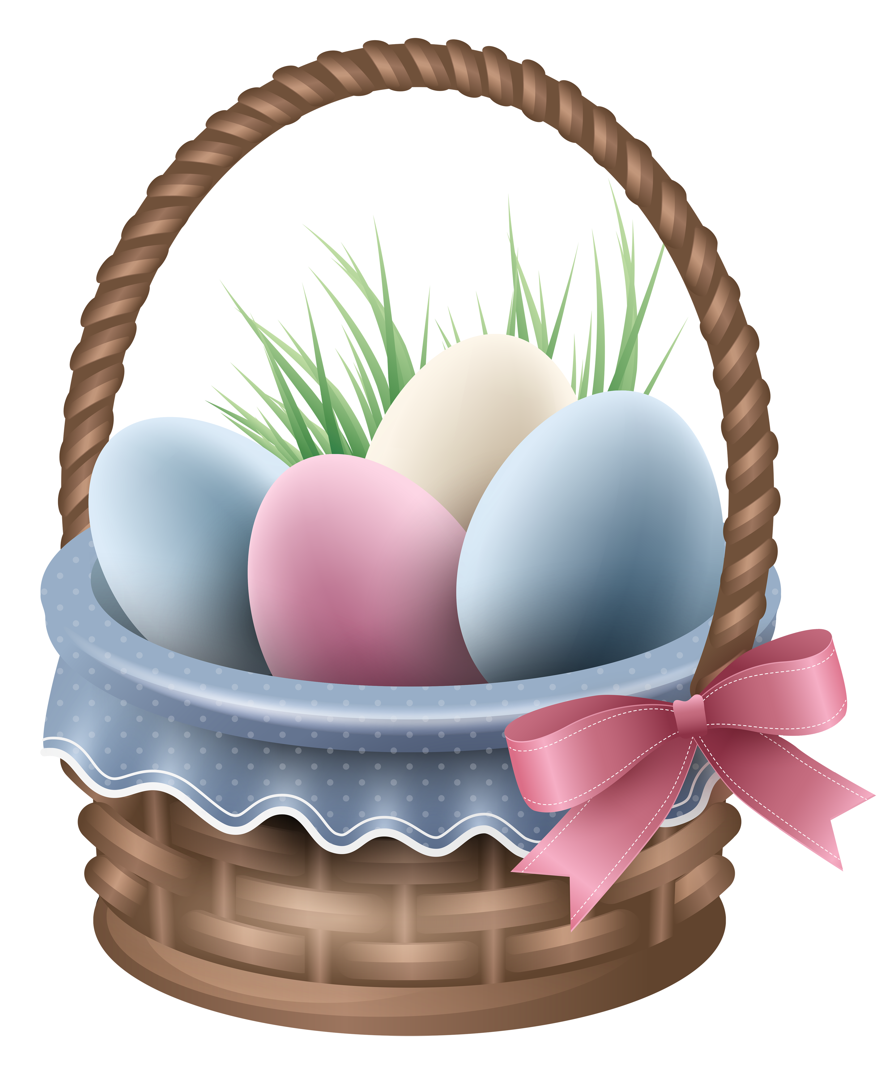 Easter basket png. Transparent and grass clipart