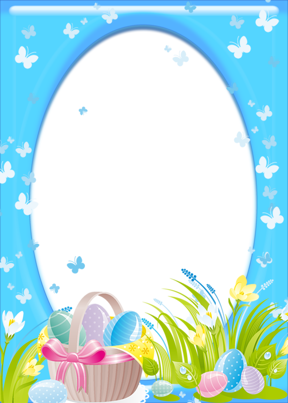 Easter border png. Transparent frame gallery yopriceville