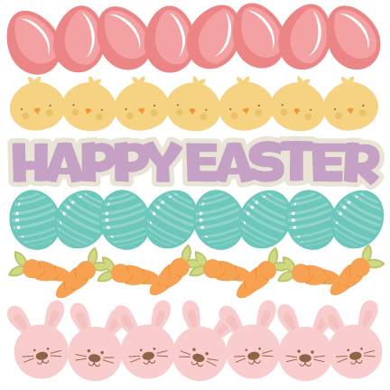 Easter border png. Borders svg cutting files