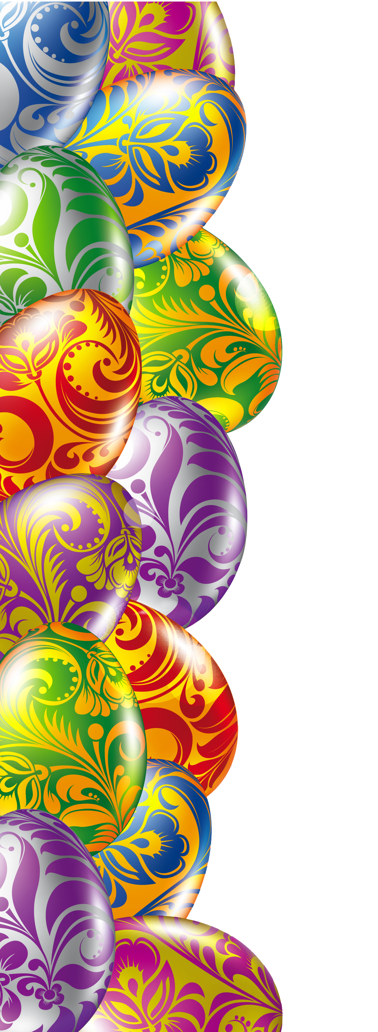 Easter border png. Eggs transparent picture crafting