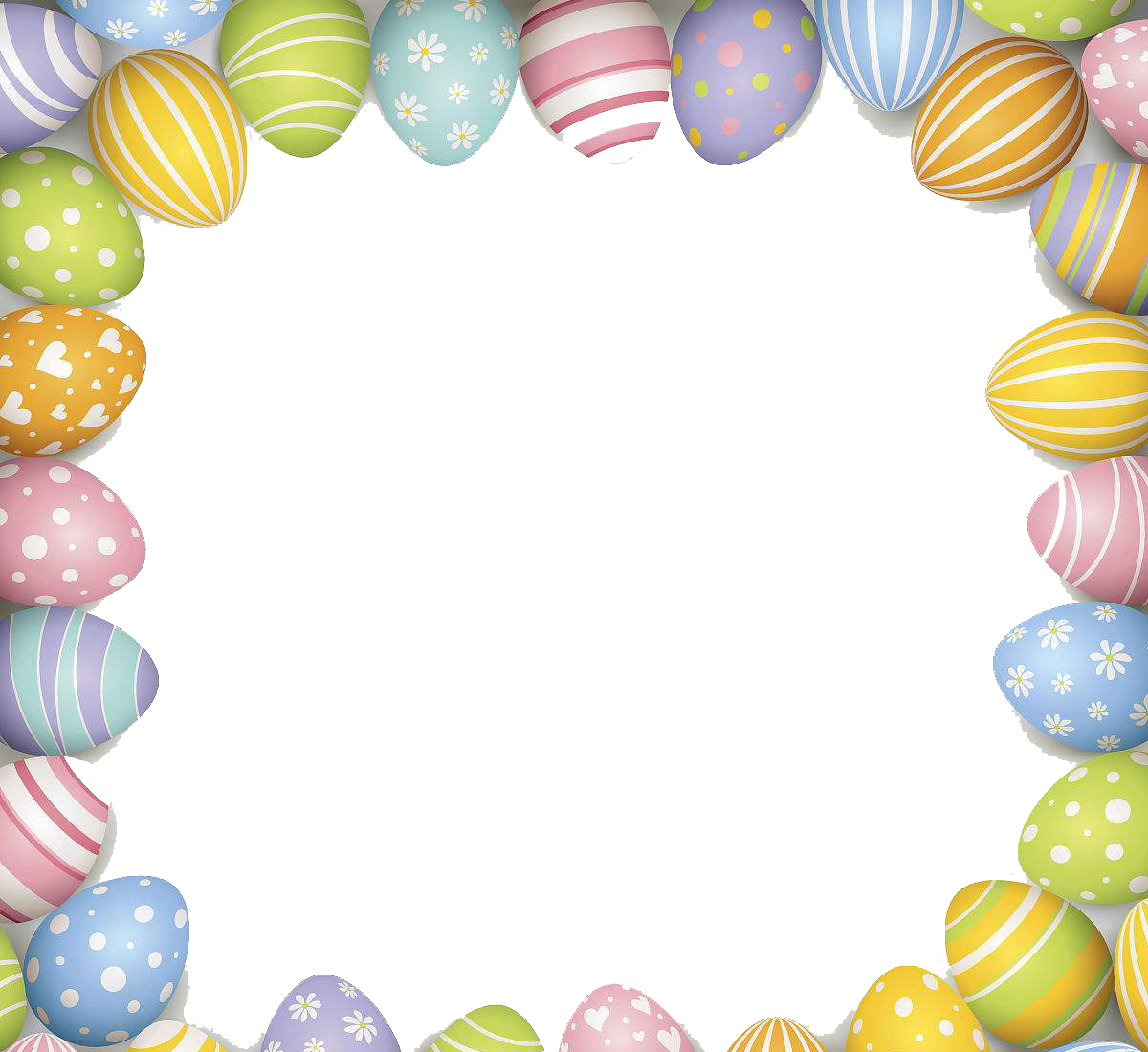 Easter border png. Bunny red egg illustration