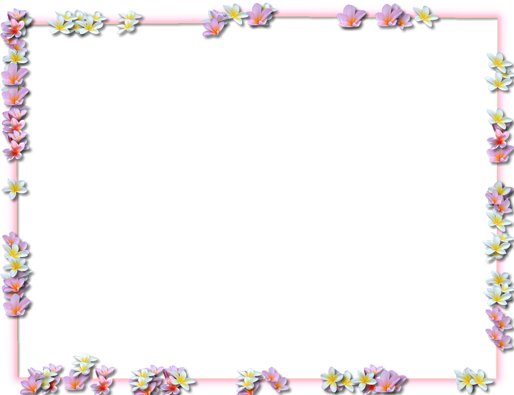 Easter border png. Best free flowers borders